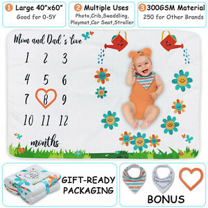"""ComfiTime Baby Monthly Milestone Blanket 