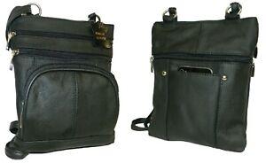 Women-and-Girls-Genuine-Leather-Messenger-Bag-HANDBAG-CROSS-BODY-Purse