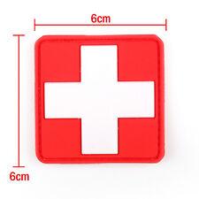 Mini 3d Pvc Rubber Red Cross Flag Of Switzerland Swiss Cross Patch Medic Paramedic Tactical Army Morale Badge Rock & Pop Music Memorabilia