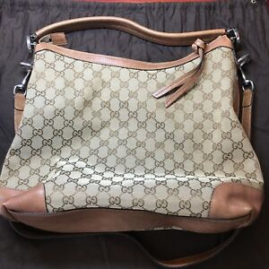 6d1291c4edcf Image is loading Auth-Gucci-GG-Canvas-Shoulder-Bag-Handbag