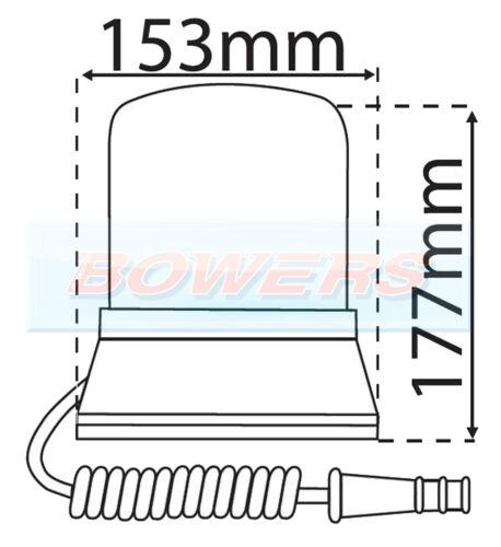 12V//24V VOLT MAGNETIC HALOGEN ROTATING//FLASHING AMBER//ORANGE BEACON LAP LBB260K