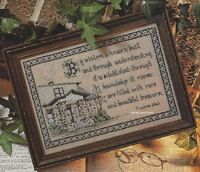 Proverbs 24:3 Cross Stitch Pattern Verse Home Blessings Wisdom King Solomon
