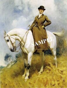 VICTORIAN-SIDESADDLE-LADY-CANVAS-ARABIAN-HORSE-ART-PRINT-LARGE-13-034-x-19-034