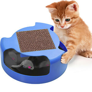 Cat-Mouse-Play-Toy-with-Scratching-Post-Pad-for-Pup-Animal-Interactive-Training
