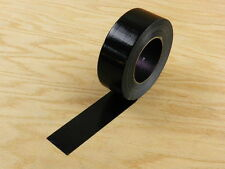 """EXTRA STRONG 2"""" Black Duct Tape Waterproof UV Tear Resistant 110 yd 330' Roll"""