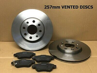 VAUXHALL COMBO VAN 1.2 1.3 CDTI 1.7 DTI FRONT VENTED BRAKE DISCS AND PADS