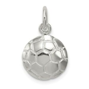 eea6b45dc Image is loading Sterling-Silver-Soccer-Ball-Charm-New-Sports-Pendant