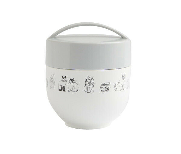 Very cute  Lisa Larson lunch box DONBURI BENTO Heat Food Container Portable F S