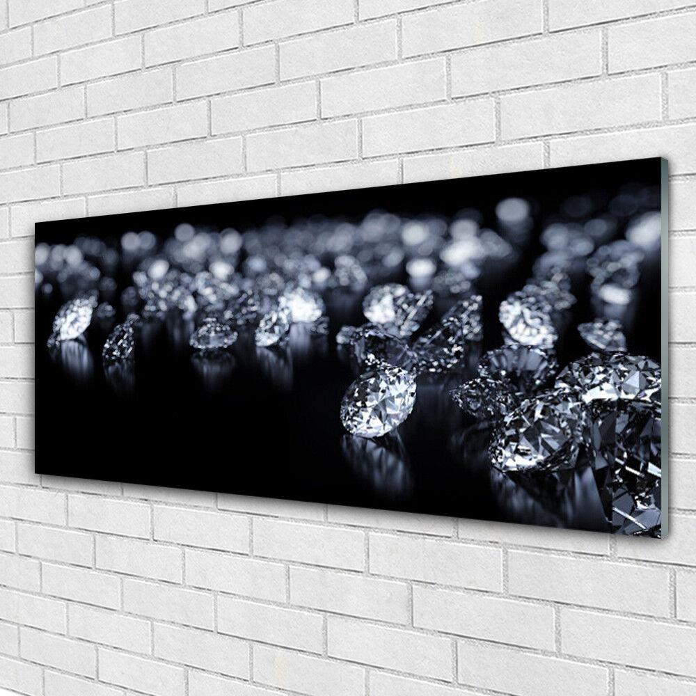 Stampa su vetro Wall Art 125x50 foto immagine I diamanti dell'arte