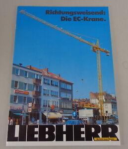 Prospectus/Brochure Liebherr Richtungsweisend: Die Ec-Krane. From 05/1986