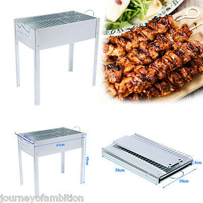 Portable Camping Foldable charcoal BBQ Barbecue Grill Outdoor Garden Picnic UK