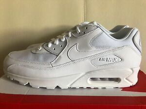 Nike Air Max 90 Essential All White Trainers 537384 111