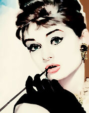 Audrey Hepburn #126 Pop Art Canvas 16 x 20    #3087