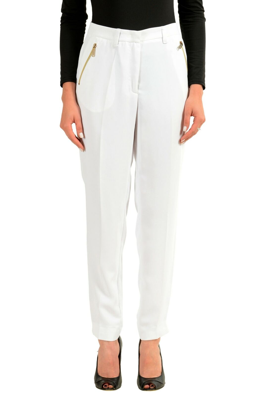Versace Jeans Weiß Damen Freizeithose Sz 6 6 6 8 10 | Gemäßigten Kosten  | Lebensecht  | Deutschland Frankfurt  9a2a81
