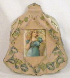 Antique-Valentine-Victorian-Lady-Blue-Bell-Morning-Glories-Parchment-10