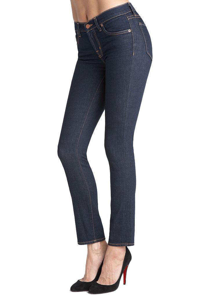 New J BRAND Classic Dark Wash INK 811 Mid Rise Ankle Skinny Leg Jeans 25
