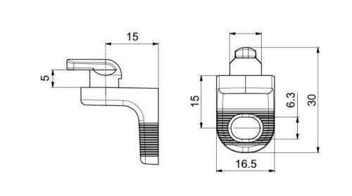 120 x Rückwandverbinder Rückwandhalter Kunststoff alu silber Möbel Rückwand RW