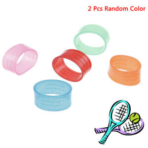 2-Pcs-Tennisschlaeger-Griff-Silikon-Ring-Tennis-Griff-Elastisch-SchuWR