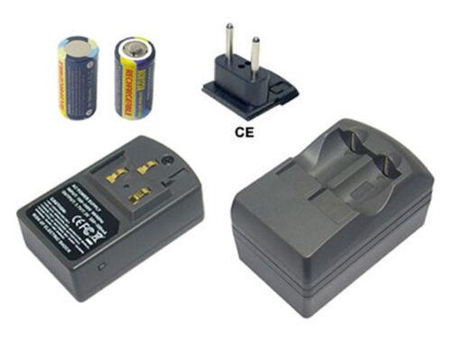 Akku+Ladegerät für CANON Panasonic Kondak CR123A,DL123A