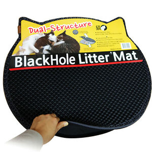 Image is loading Blackhole-Cat-Litter-Mat-Innovative-Dual-Structure-Litter-  sc 1 st  eBay & Blackhole Cat Litter Mat - Innovative Dual-Structure Litter Box ... Aboutintivar.Com