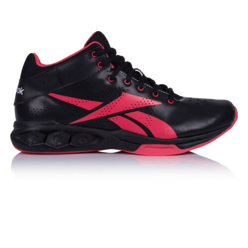 Reebok Womens HexRide Intensity Mid Shoe Black Pink Gym Breathable Trainers