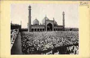 Neu-Delhi-Indien-Dschama-Moschee-Mosque-Heimatbeleg-Postkarten-Format-1940