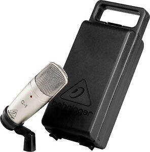 new behringer c 1 studio cardioid condenser microphone mic w hard case clip ebay. Black Bedroom Furniture Sets. Home Design Ideas