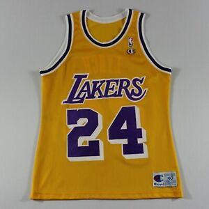 8b735e7a6d9 George Lynch 40 M Champion Los Angeles Lakers Jersey 93-94 Vintage ...