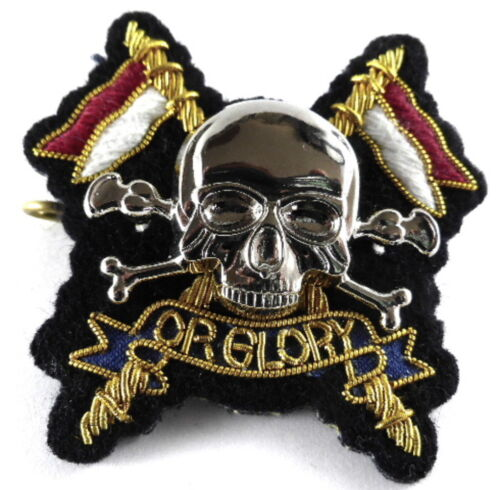 Royal Lancers Officers Cloth//Metal//Bullion Wire Beret Badge