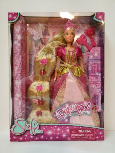 Steffi Love Rapunzel Doll Rare in Pink Dress Simba Toys New