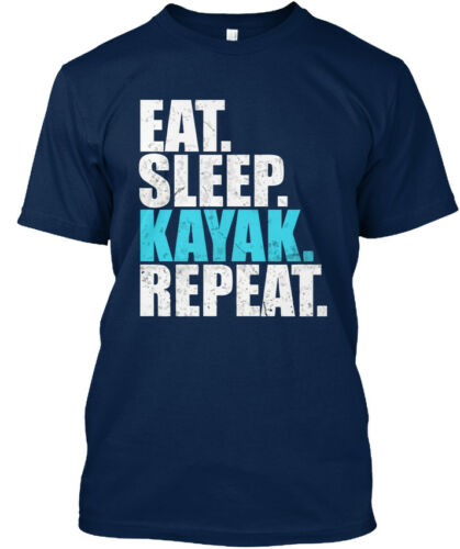 Eat Sleep Kayak répéter Canoë-Standard Unisexe T-Shirt