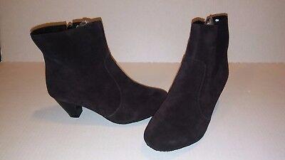 Midnight Velvet Open Zip Ankle Boots