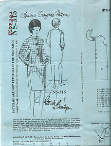 1960s-Spadea-sewing-pattern-Coat-DRESS-sew-size-12-designer-Patrick-de-Barentzen
