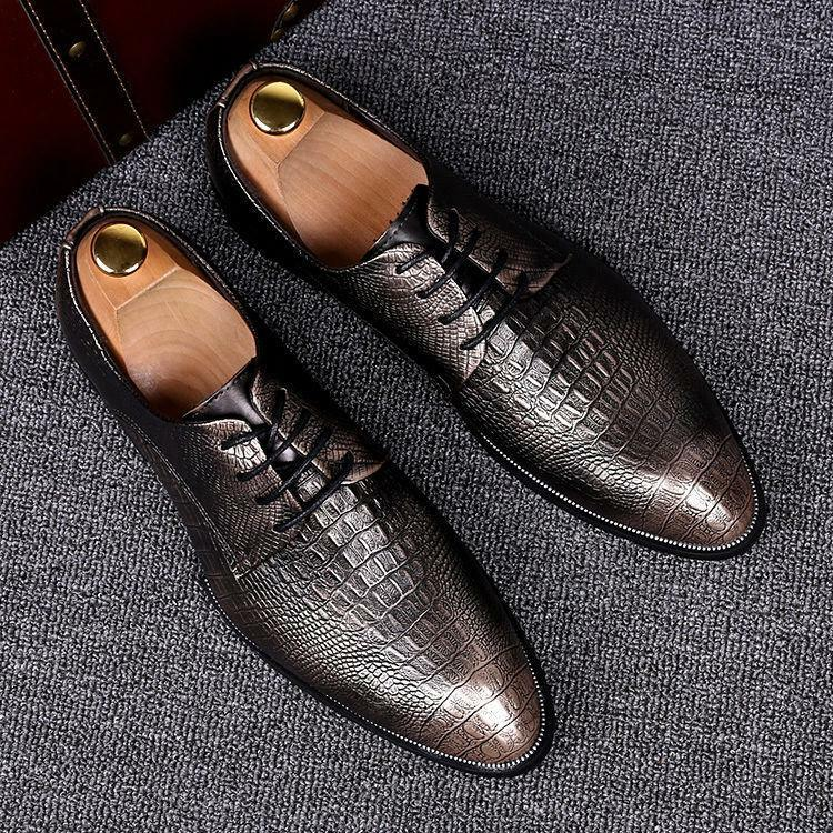 CASUAL FORMAL BROGUE OXFORD OFFICE WEDDING SHOES UK MENS REAL LEATHER ITALIAN Sz