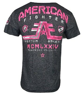 AMERICAN FIGHTER Mens T-Shirt LINDENWOOD Athletic Biker MMA Gym UFC 15 $50