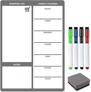 Magnetic-Large-A3-Fridge-Planner-Dry-Wipe-Erase-Meal-Whiteboard-Diet-Memo-Family
