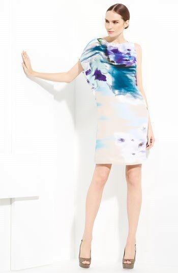 Piazza Sempione Floral Print Silk Dress ( size 46- US 12)