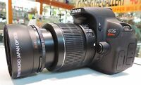 67mm Hd Wide Angle Macro Lens For Canon Eos Rebel T7i Dslr With 18-135mm Lens
