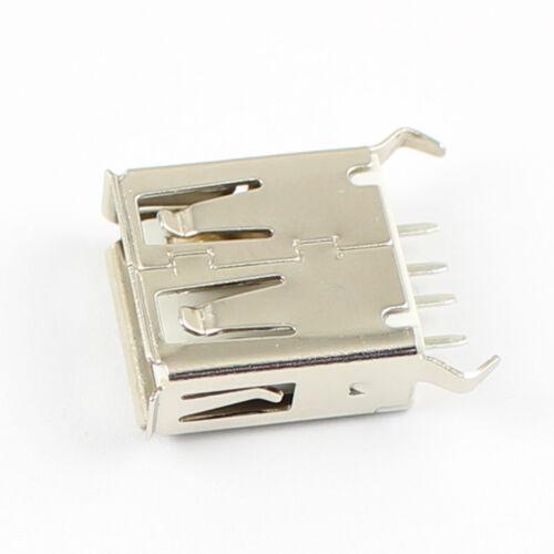 50Pcs USB 2.0 Female 4 Pin Type A DIP Socket Connector Short