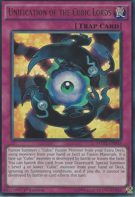 YU-GI-OH ULTRA RARE: UNIFICATION OF THE CUBIC LORDS - MVP1-EN045 1ST EDITION