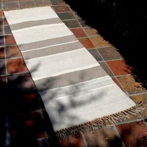 Rug-Long-Mat-Runner-Indian-Quality-Hand-Loomed-Natural-Cotton-Jute-Fairly-Traded