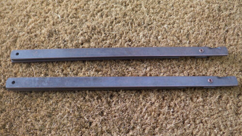 """1 PAIR x 9/"""" BRONZE COLOUR FOLDING STAY DOOR LID HINGED R767-73"""
