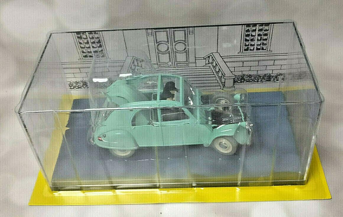 Voiture DUPONT 2 CV 1 24 neuf en boîte + livret collection miniature TINTIN