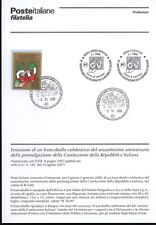 ITALY 2008 PROMULGATION CONSTITUTION BULLETIN COMPLETE STAMPS FDC