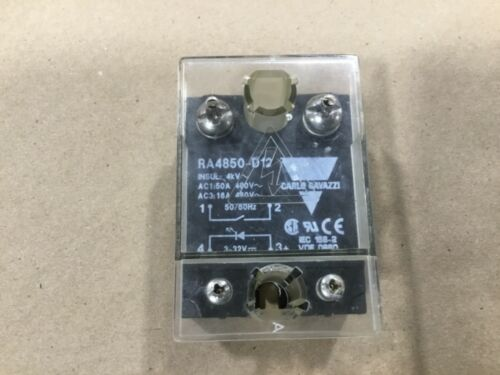 Carlo Gavazzi RA4850-D12 Solid State Relay 480V #27A35