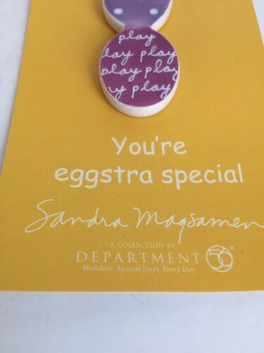 Dept 56 Sandra Magsamen Egg Trio Pin  ~NEW~