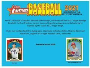 2021 Topps Heritage Baseball 8 Pack Blaster Box Pre-Sale