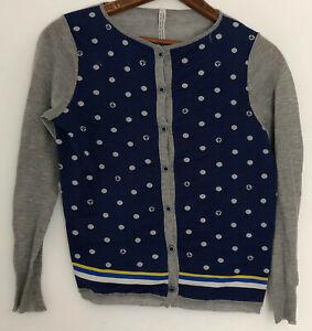 Antipast Cardigan Sweater 1 Small S Gray Blue Polka Dot Anchor Japan Cotton