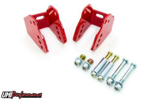 UMI Perf 78-88 Monte Carlo Rear Lower Control Arm Relocation Brackets Bolt In