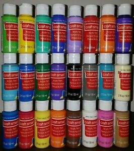 Details About 24 Craft Smart Acrylic Paint Bottles 2 Fl Oz Set Art Supplies Priority Mail New